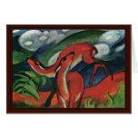 Red Deer Ii By Marc Franz Greeting Card