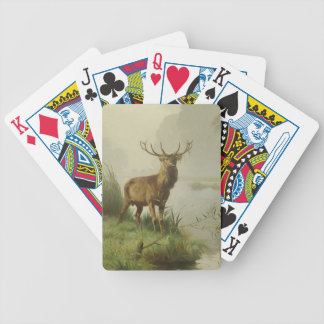 Red Deer painting Bicycle Playing Cards