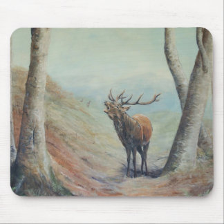 Red deer stag bellowing in a highland glen. mouse pad
