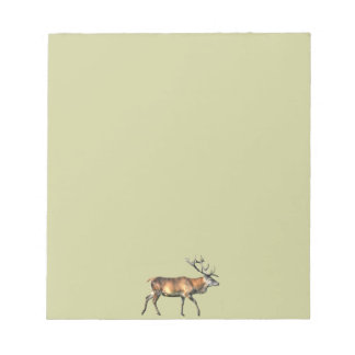 Red Deer Stag Wildlife Animal Design Notepad