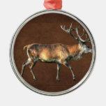 Red Deer Stag Wildlife Animal Design Christmas Tree Ornament