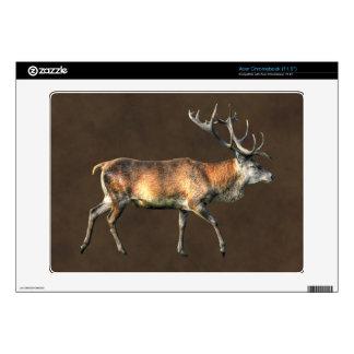 Red Deer Stag Wildlife Animal Design Skins For Acer Chromebook