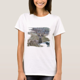 Red deer staring down. T-Shirt