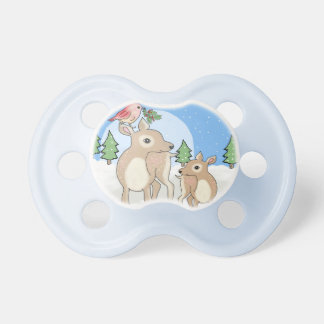 Red deers of Christmas Pacifier