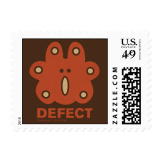 RED DEFECT postage stamp