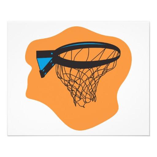 red del baloncesto flyer personalizado