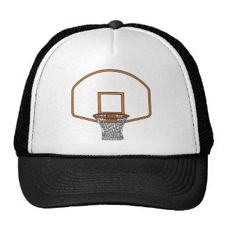 Red del baloncesto gorros bordados