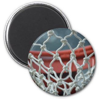 Red del baloncesto imán redondo 5 cm