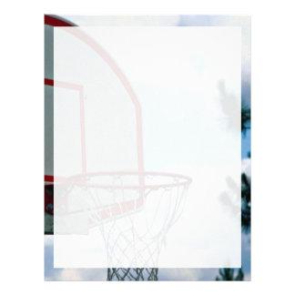 Red del baloncesto membrete a diseño