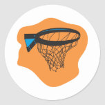 red del baloncesto pegatina redonda