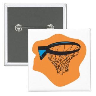 red del baloncesto pin cuadrada 5 cm
