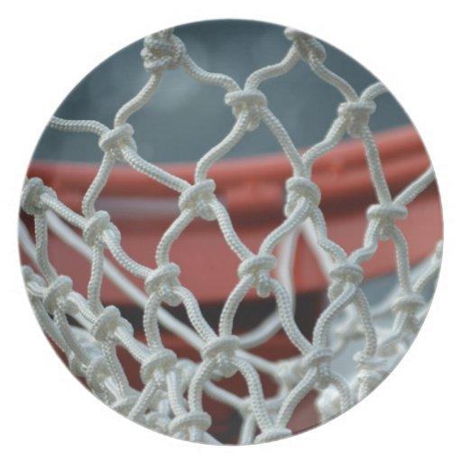 Red del baloncesto plato para fiesta