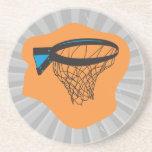 red del baloncesto posavaso para bebida
