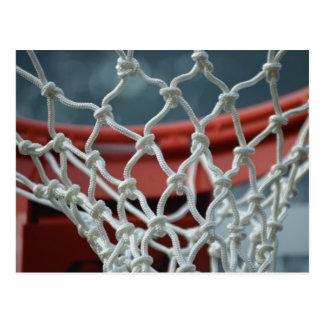 Red del baloncesto tarjeta postal