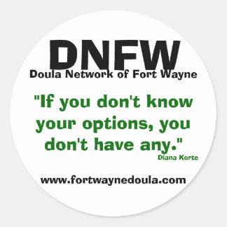red del doula del pegatina de fuerte Wayne