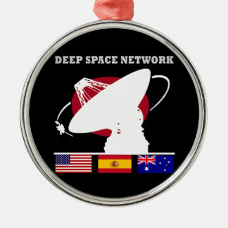 Red del espacio profundo de la NASA Ornamento Para Reyes Magos