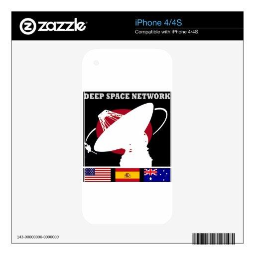 Red del espacio profundo de la NASA iPhone 4S Calcomanía