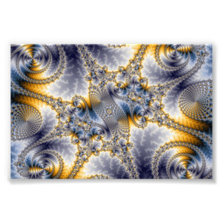 Red del puente - arte del fractal de Mandelbrot Impresion Fotografica