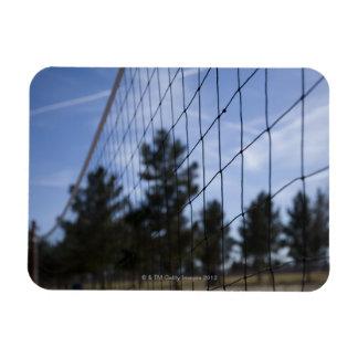 Red del voleibol imán rectangular