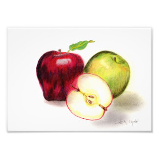 Red Delicious and Granny Smith Apples Photo Print