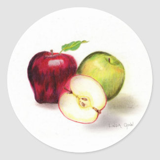 Red Delicious and Granny Smith Apples Stickers