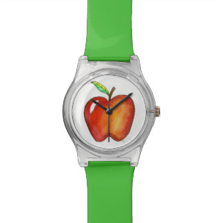 Red Delicious Apple Apples Fruit Fruity Wristwatch