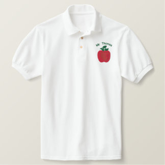 Red Delicious Apple D2 Customizable Embroidery Embroidered Polo Shirt