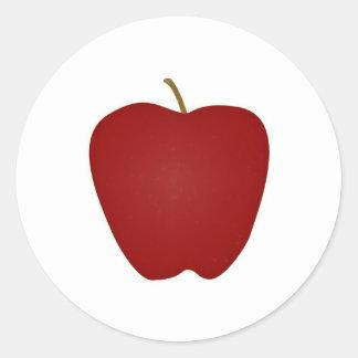 Red Delicious Apple Logo Classic Round Sticker