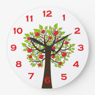 Red Delicious Apple Tree Wall Clock