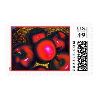 Red Delicious Apples Photograph Postage