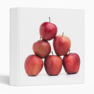 Red Delicious Apples Pyramid 3 Ring Binders