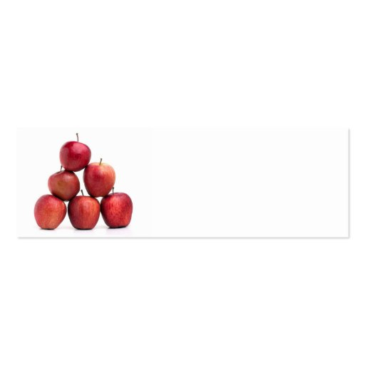 Red Delicious Apples Pyramid Double-Sided Mini Business Cards (Pack Of 20)