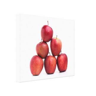 Red Delicious Apples Pyramid Gallery Wrapped Canvas