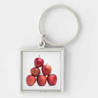 Red Delicious Apples Pyramid Keychain
