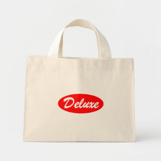 Red Deluxe Mini Tote Bag