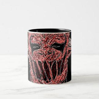 "Red Demon ""Mug"" Two-Tone Coffee Mug"