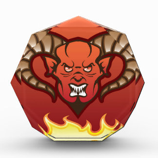 Red Demon Vector Devil Acrylic Award