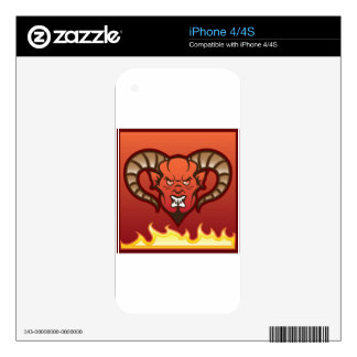 Red Demon Vector Devil iPhone 4 Skin