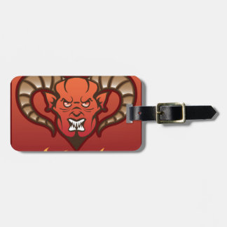 Red Demon Vector Devil Luggage Tag