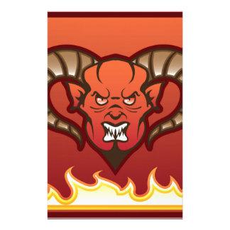 Red Demon Vector Devil Stationery