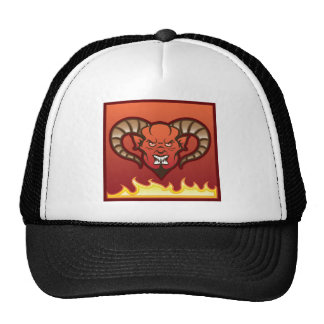 Red Demon Vector Devil Trucker Hat