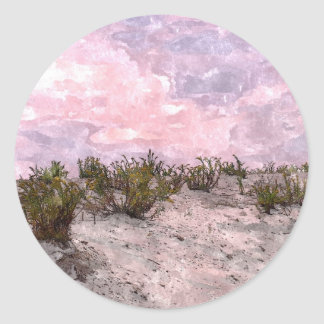 Red Desert Classic Round Sticker