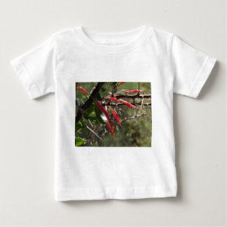 Red Desert Flower Petals Tee Shirts