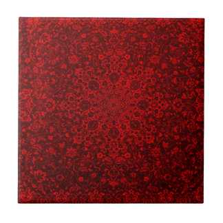 red design art color beautiful rich love ceramic tile