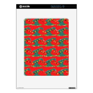 Red Design iPad Decals