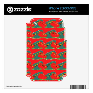 Red Design Decal For The iPhone 3GS
