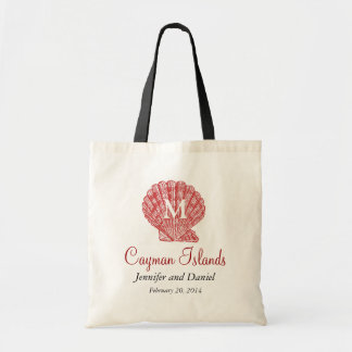 Red Destination Wedding Tote Bags Caribbean