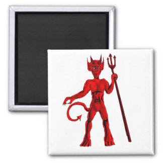 Red devil And Pitch Fork Magnet