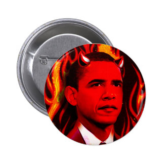 Red Devil - Barack Obama Pinback Button