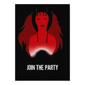 RED DEVIL DESIGN FOR INVITATION CARDS